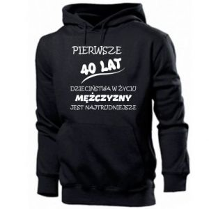 Men's hoodie Inscription: The first 40 years of childhood