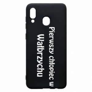 Phone case for Samsung A30 The first boy in Walbrzych