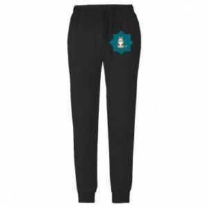 Męskie spodnie lekkie Pies - PrintSalon