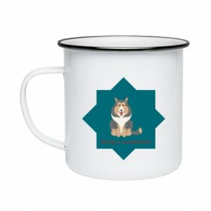 Enameled mug Dog