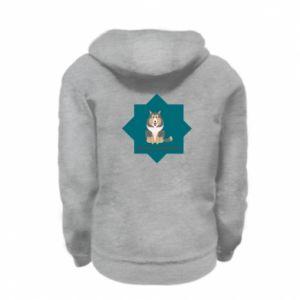 Kid's zipped hoodie % print% Dog
