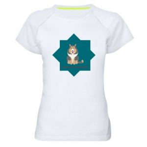 Women's sports t-shirt Dog