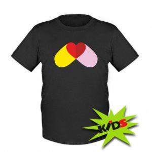 Kids T-shirt Heart pill