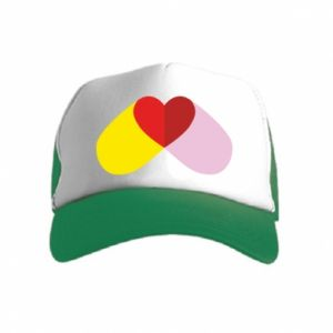 Kid's Trucker Hat Heart pill