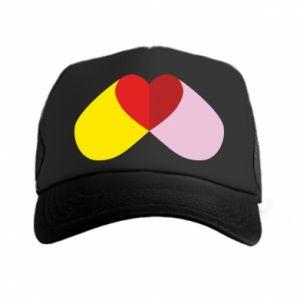 Trucker hat Heart pill