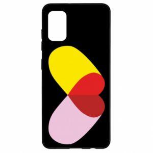 Samsung A41 Case Heart pill