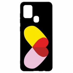 Samsung A21s Case Heart pill