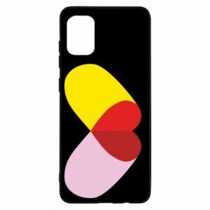 Samsung A31 Case Heart pill