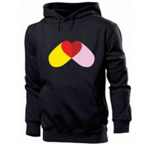 Men's hoodie Heart pill