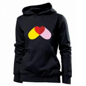Women's hoodies Heart pill