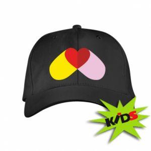 Kids' cap Heart pill