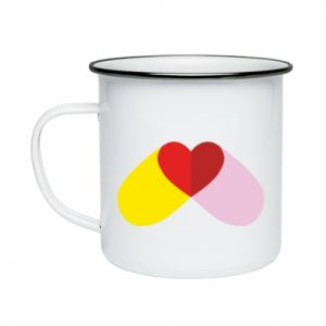 Enameled mug Heart pill