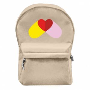 Backpack with front pocket Heart pill