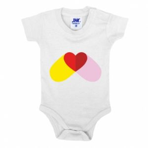 Baby bodysuit Heart pill