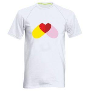 Men's sports t-shirt Heart pill