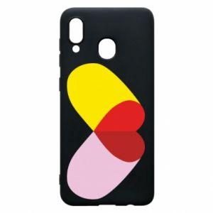 Samsung A20 Case Heart pill