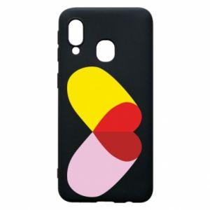 Samsung A40 Case Heart pill