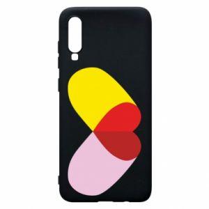 Samsung A70 Case Heart pill