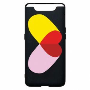 Samsung A80 Case Heart pill