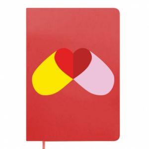 Notepad Heart pill