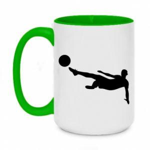 Two-toned mug 450ml Football