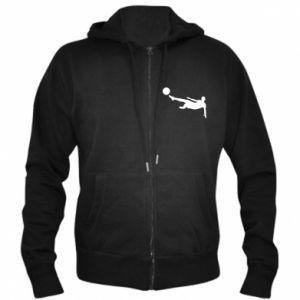 Men's zip up hoodie Football