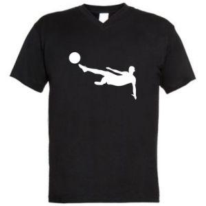 Men's V-neck t-shirt Football