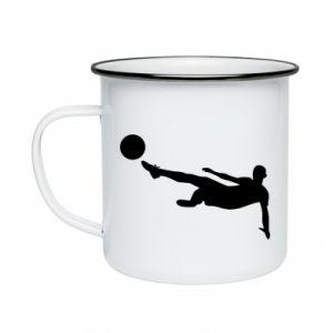 Enameled mug Football