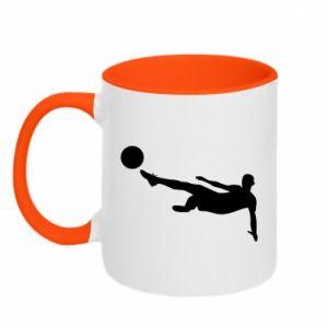 Two-toned mug Football