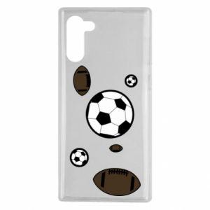 Etui na Samsung Note 10 Piłki do gier