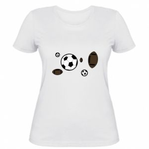 Women's t-shirt Balls for games
