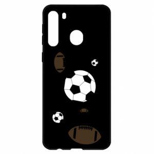 Samsung A21 Case Balls for games