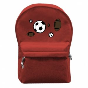 Backpack with front pocket Balls for games