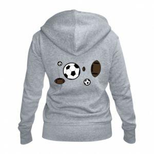 Damska bluza na zamek Piłki do gier