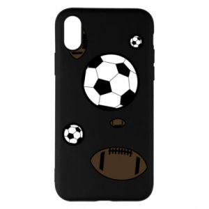 Phone case for iPhone X/Xs Balls for games