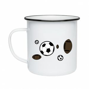 Enameled mug Balls for games