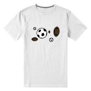 Męska premium koszulka Piłki do gier