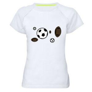 Women's sports t-shirt Balls for games