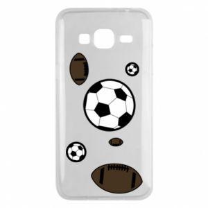 Phone case for Samsung J3 2016 Balls for games