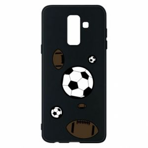 Phone case for Samsung A6+ 2018 Balls for games