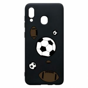 Phone case for Samsung A20 Balls for games