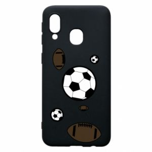 Phone case for Samsung A40 Balls for games