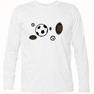 Koszulka z długim rękawem Piłki do gier