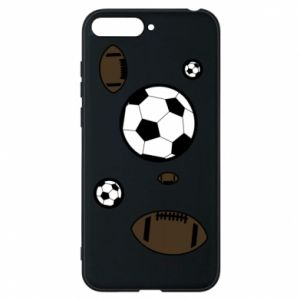 Phone case for Huawei Y6 2018 Balls for games