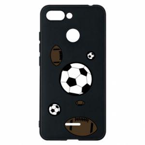 Phone case for Xiaomi Redmi 6 Balls for games