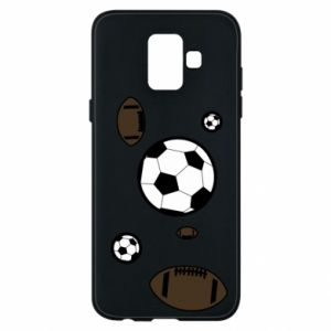 Phone case for Samsung A6 2018 Balls for games