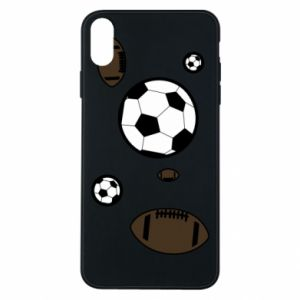 Phone case for iPhone Xs Max Balls for games