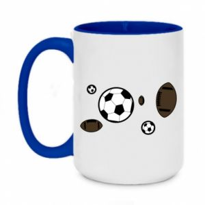 Two-toned mug 450ml Balls for games