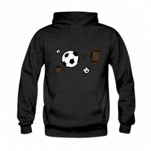 Bluza z kapturem dziecięca Piłki do gier