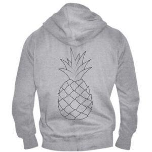 Męska bluza z kapturem na zamek Pineapple contour
